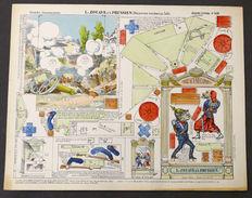 Gioco Costruzione - Imagerie D'Epinal N° 535 Le Zouave Et Le Prussien - 1900 Ca. - Giocattoli Antichi