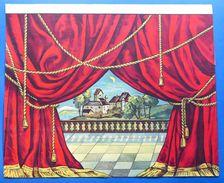 Gioco Vintage Di Carta - Sfondo Teatro Paesaggio Marionette Burattini - 1930 Ca. - Giocattoli Antichi