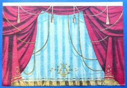 Gioco Vintage Sfondo Teatro Burattini - Sipario N° 1 Marca Di Fabbrica - 1930 Ca - Giocattoli Antichi