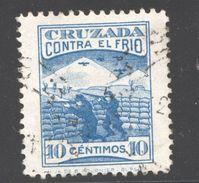 Cruzada Contra El Frio   10 Cts   Usado - Spanish Civil War Labels