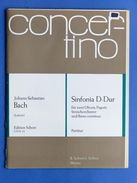 Spartiti Partitura - Bach - Sinfonia D-Dur - Oboe Fagotto Archi Cembalo - Vieux Papiers