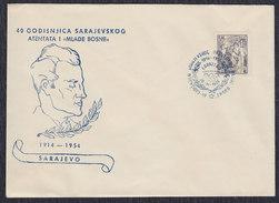 "Yugoslavia 1954 Sarajevo Assassination - 40th Anniversary ""Mlada Bosna"", Cover - 1945-1992 Sozialistische Föderative Republik Jugoslawien"