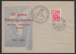 Yugoslavia 1951 National Theatre Of Bosnia And Herzegovina, Cover - 1945-1992 Socialist Federal Republic Of Yugoslavia