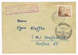 """GERMANY/ DDR -  Lucas Cranach, Michel # 384 , """"Befördert Mit Postkutsche  Von Schwerin Nach Wismar"""" - 2962 - Storia Postale"""