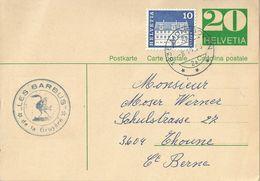 """PK 201x  """"Les Barbus De La Gruyère""""  Montbovon - Thun            1973 - Entiers Postaux"""