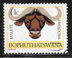 Bophuthatswana Scott # 5a Used Perf 14 Buffalo,1977 - Bophuthatswana