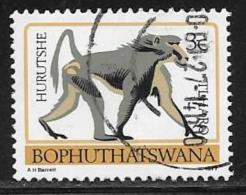 Bophuthatswana Scott # 7a Used Perf 14 Baboon,1977 - Bophuthatswana