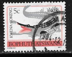 Bophuthatswana Scott # 9a Used Perf 14 Crocodile,1977 - Bophuthatswana