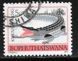 Bophuthatswana Scott # 9 Used Perf 12 1/2 Crocodile,1977 - Bophuthatswana
