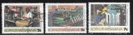 Bophuthatswana Scott # 140,143,145 Used Industries, 1985 - Bophuthatswana