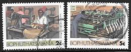 Bophuthatswana Scott # 140,143 Used Industries, 1985 - Bophuthatswana