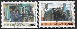 Bophuthatswana Scott # 156-7 Used Industries, 1985 - Bophuthatswana