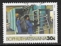 Bophuthatswana Scott # 156 Used Painting Mteal Beds , 1985 - Bophuthatswana