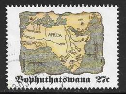Bophuthatswana Scott # 270 Used Map Of Africa, 1992 - Bophuthatswana