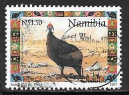 Namibia, Scott # 871 Used Guineafowl, Christmas, 1997 - Namibia (1990- ...)
