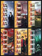 ISLE OF MAN 2005 Harry Potter & Goblet Of Fire: Set Of 6 Complete Sheets UM/MNH - Isola Di Man