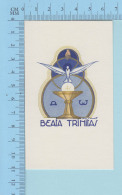 Religion -GBB Signé -Alpha & Omega Beata Trinitas - Image Pieuse Santini, Holy Card - Santini