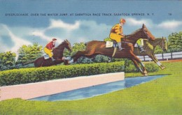 New York Saratoga Springs Steeplechase Over The Water Jump At Saratoga Race Track 1940 - Saratoga Springs