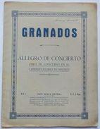 Musica Spartito - Granados - Allegro De Concierto - Pianoforte - Old Paper