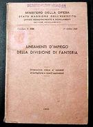 Militaria Addestramento Impiego Fanteria 1950 - Documenti