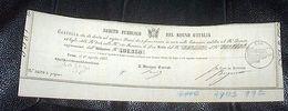Scripofilia - Cartella Estrazione Regno Italia Debito Pubblico  L. 100 - 1866 - Non Classificati