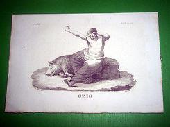 Stampa Incisione Mitologia - OZIO ( Incisore G. C. ) - 1700 Ca - Stampe & Incisioni