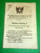 Regno Italia Regio Decreto Modifiche Concessioni Strade Ferrate Meridionali 1865 - Old Paper