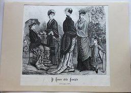 Stampa Costumi Moda Abiti Donne  - Milano - Giugno 1879 - Stampe & Incisioni