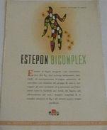 Pubblicità Farmaceutica - Estepon Bicomplex - 1950 Ca - Publicidad
