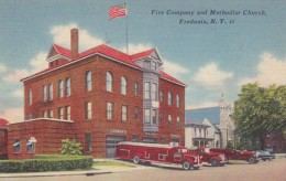 New York Fredonia Fire Company and Methodist Church