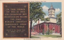New York Fredonia Historical First baptist Church 1946 Curteich