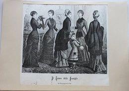 Stampa Costumi Moda Abiti Donna  - Milano - Novembre 1879 - Stampe & Incisioni