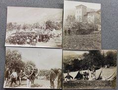 Lotto 3 Foto D'epoca Esercito Artiglieria Accampamento 1890 Militaria - Photos