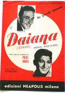 Musica Spartito - Daiana - Canto - Mandolino - Fisarmonica - 1958 - Vecchi Documenti