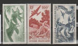 GUYANE          N° YVERT  :   PA  35/37  NEUF SANS  CHARNIERE        ( N   1470  ) - Unused Stamps