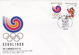 Korea FDC 1985 For The 1988 Seoul Olympic Games (DD11-11) - Ete 1988: Séoul