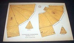 Marca Stella Gioco Costruzioni Geometriche N° 3 Piramide - 1930 Ca. - Giocattoli Antichi
