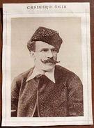 Fototipia D'epoca Caricaturista Casimiro Teja 1880 - Autographes
