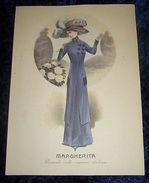 Stampa Litografia D' Epoca Originale - Moda Abiti Donna A56 - 1900 Ca - Stampe & Incisioni