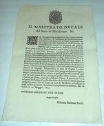 Manifesto Casale Monf. Censimento Denaro Vettovaglie Frutta 1662 - Vecchi Documenti