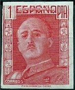 ESPAÑA GENERAL FRANCO 1946/47 NO EXPENDIDO 1001 FN  *** MNH 1 PESETA - 1931-Aujourd'hui: II. République - ....Juan Carlos I