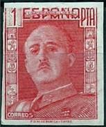 ESPAÑA GENERAL FRANCO 1946/47 NO EXPENDIDO 1001 FN  *** MNH 1 PESETA - 1931-Today: 2nd Rep - ... Juan Carlos I