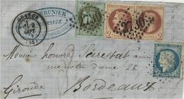 9 Sept. 1871- DEVANT De Lettre D'ORANGE (Vaucluse ) Cad T17 - 3 émissions  - N°39 A   R 1  + Paire N° 26 + N°37 - 1849-1876: Période Classique