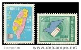 Taiwan 1970 ZIP Code Stamps Dove Map Postal Zone Bird Post - Unused Stamps