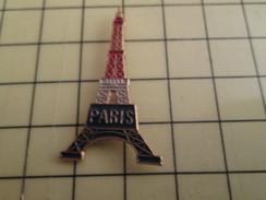 Sp15b Pin's Pins / Rare , Belle Qualité  VILLES / PARIS TOUR EIFFEL TRICOLORE - Städte