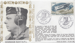 Enveloppe   Hommage  à    Antoine   DE   SAINT - EXUPERY    SAINT  MAURICE  DE  REMENS    1994 - Militaria