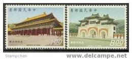Taiwan 1970 Martyrs Shrine Stamps Architecture Soldier Army Temple Scenery Martial - Unused Stamps