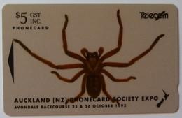 NEW ZEALAND - GPT - NZ-E-1 - Avondale Spider - CC1B - $5 - Mint In Folder - Nouvelle-Zélande