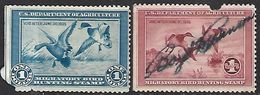US 1934-5   RW1-2  $1  Duck  Hunting Stamps Used Spacefillers  2016 Scott Value $310 - Duck Stamps