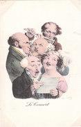 Carte Postale Ancienne Illustrée Par L.Bailly - Le Concert - Illustrateurs & Photographes